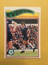 TOPPS 1978/79 ORANGE BACK FOOTBALL CARD #150 - DUNCAN McKENZIE, EVERTON