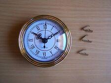 QUARTZ INSERT CLOCK  85mm White Roman Gold ring inside time ring  No. 8