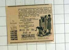 1929 Country Houses  Silverlite System Converts Motor Spirit Into Gas