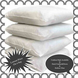 Cushion Pads Insert Fillers, Duck Feather, Hollow Fiber Cushion Pad in All Size