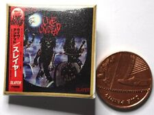 SLAYER Live Undead Square Pin Badge 32mm VTG?(not patch shirt)