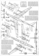 PLS-72074 1/72 Tupolev Tu-142 Full Size Scale Plans (two A0 format pages)