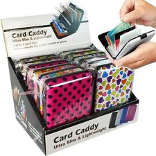 Credit Card Wallet Holders Hard Carrying Case Wholesale Bulk (Pack of 24X)