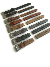 18-24 One Genuine Leather Watch Band Strap for TUDOR White STITCH