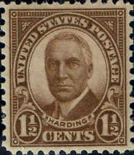 #684 1930 1 1/2 Cent Harding Rotary Press Issue Mint-Og/Nh-Xf