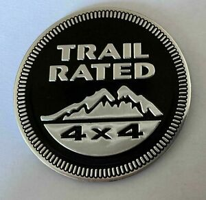 LOGO JEEP TRAIL RATED 4X4 RENEGADE CHEROKEE WRANGLER COMPASS WILLYS