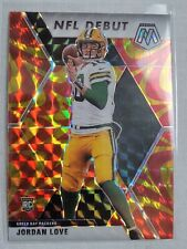 JORDAN LOVE 2020 Mosaic Gold Reactive Prizm #264 NFL Debut Rookie Card Packers