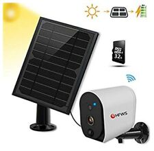 Solar Powered Security Camera+Solar Panel, Compatible with Alexa and Google...