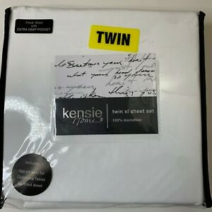 Kensie home twin xl sheet set Twin size NWts 100% microfiber fitted sheet wit