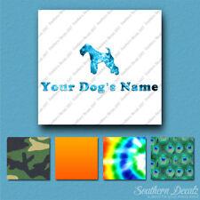 Custom Lakeland Terrier Dog Name Decal Sticker - 25 Printed Fills - 6 Fonts