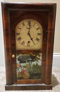 Antique 1870's WATERBURY Victorian OG OGEE Style Victorian Mantel Shelf Clock