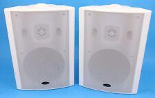 "TruAudio 5 1/4"" 2 Way Weather Resistant Speaker Pair In White 8 Ohms 5 Way Posts"