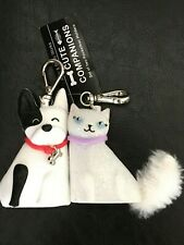 Bath & Body Works PocketBac Holder Set 2 ~CUTE COMPANIONS ~CAT & DOG magnetic