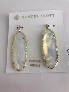 NWT Kendra Scott Layla Drop Earrings in Gold Opalite Illusion  $78