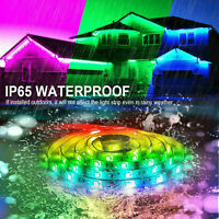 Outdoors 16.4ft RGB IP65 Waterproof 5050 LED SMD Strip Light +Remote+Power+Case