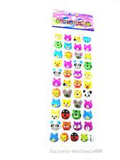 Tiger Lion Animals Stickers Lot Kids Crafts Puzzle Study 1 Sheet 3d Pvc Anime A