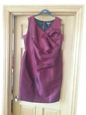 bnwt ladies Alexon red shimmery taffeta like dress size 20 great Xmas  party