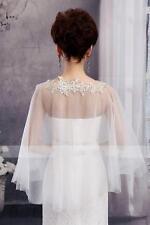 New white/ivory Bridal Bolero Wedding Prom Wraps Womens Shrug Shawl girls cape