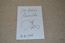 Strawalde Signed Autograph 20x30 cm In Person Plus Drawing Drawing Tiler
