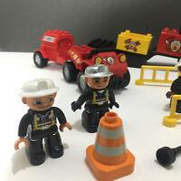 Lego Duplo Mixed Set - Vehicles, Fire Vehicles & Equipment, Firemen