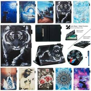 """For Kindle Fire 7 HD8 HD10 10th 6"""" 7"""" 8"""" 10.1"""" Patterns Smart Leather Case Cover"""