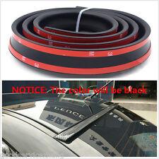 1.5m 4.9ft Universal Black Car Rear Roof Trunk Spoiler Wing Lip Trim Sticker Kit