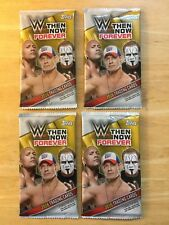 2016 Topps WWE Then Now Forever 4 Pack Lot Unopened / 7 Card Per Pack Sting
