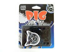 """Pig 1/8"""" Riser Pad Set of 2 Black for Skateboard Longboard"""