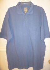 Men's Scandia Woods Golf Polo blue short sleeve 100% cotton NWOT LGE TL
