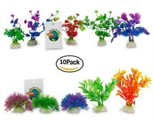 10 PACK Artificial Fake Fish Tank Plants Aquarium Aquatic Decoration Ornament