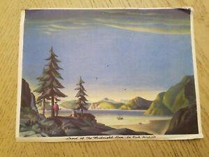 """1940s Land of the Midnight Sun Dale Nichols Art WPA Regionalist PRINT 6"""" x 8"""""""