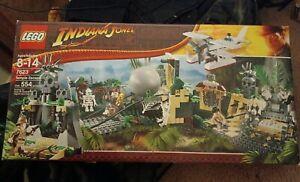 Indiana Jones Lego Temple Escape Set Unopened Rare  figures toys