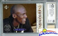 1995 UD Minors One on One #10 Michael Jordan w/Game Used Bat BECKETT 10 MT GGUM