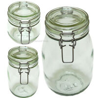 Ikea Glass Mason Jar Clip Top Airtight Canister Cereal biscuits Cookie Korken
