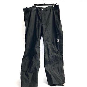 Mountain Hardwear Mens Dry Q Elite Snow Pants Waterproof Black Size XXL