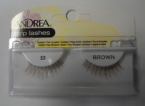 Andrea's Strip Lashes Fashion Eye Lash Style 53 Brown - (Pack of 6)