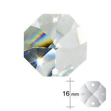 10 Stk. Kristallglas Oktagon ø 16mm 2-Loch kristallklar Koppe Behang