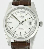 Vintage Jumbo TUDOR Oyster Prince Date Day Automatic Mens Watch With Box