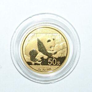 Goldmünze China 50 Yuan Panda - Bär 2016 3 g Gold 999