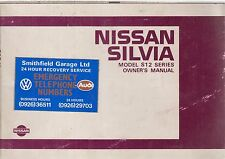 NISSAN SILVIA S12 SERIES 1.8 & 2.0 HATCHBACK & COUPE ORIGINAL 1985 OWNERS MANUAL