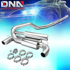 """FOR 2016-2018 FORD FOCUS RS STAINLESS STEEL 3""""DUAL EXIT CAT BACK EXHAUST SYSTEM"""