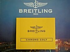 BREITLING CHRONO COLT WATCH INSTRUCTION MAINTENANCE MANUAL BOOK GUIDE BOOKLET