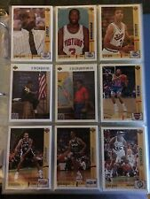 1991-92 Upper Deck Basketball Factory Complete Set (NMMT) in Sheets & Binder