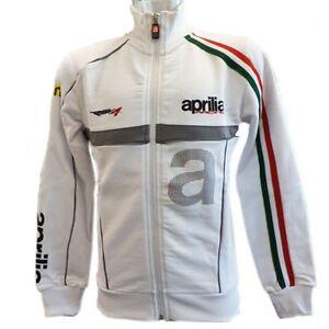 New Official Aprilia Team White Kids Zip Up Fleece