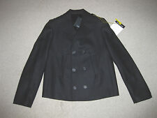 Men's $2,499 NEIL BARRETT WOOL CASHMERE MILITARY PEACOAT 50