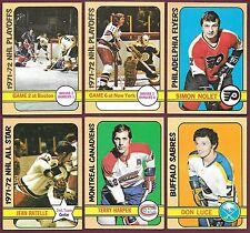 1972-73 Topps Hockey $1. EACH U Pick #s 5 6 7 9 10 11...154 162 167 168 EX+/EXMT