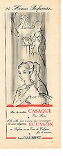 PUBLICITE ADVERTISING 1958   JEAN D'ALBRET  parfum ECUSSON & CASAQUE