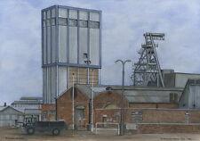 Yorkshire Main Colliery - 1909 - 1985 - Ltd Ed Print - Pit Pics - Coal Mining