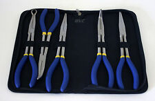 "5 Piece 11"" Long Needle Nose Pliers Set with Duck Bill Plier Nylon Storage Pouch"
