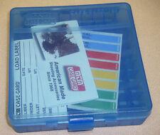 "Mtm Case Gardâ""¢ New Mtm Plastic Ammo Box 100 Round 45acp 40 P100-45-24 Clear Blue"